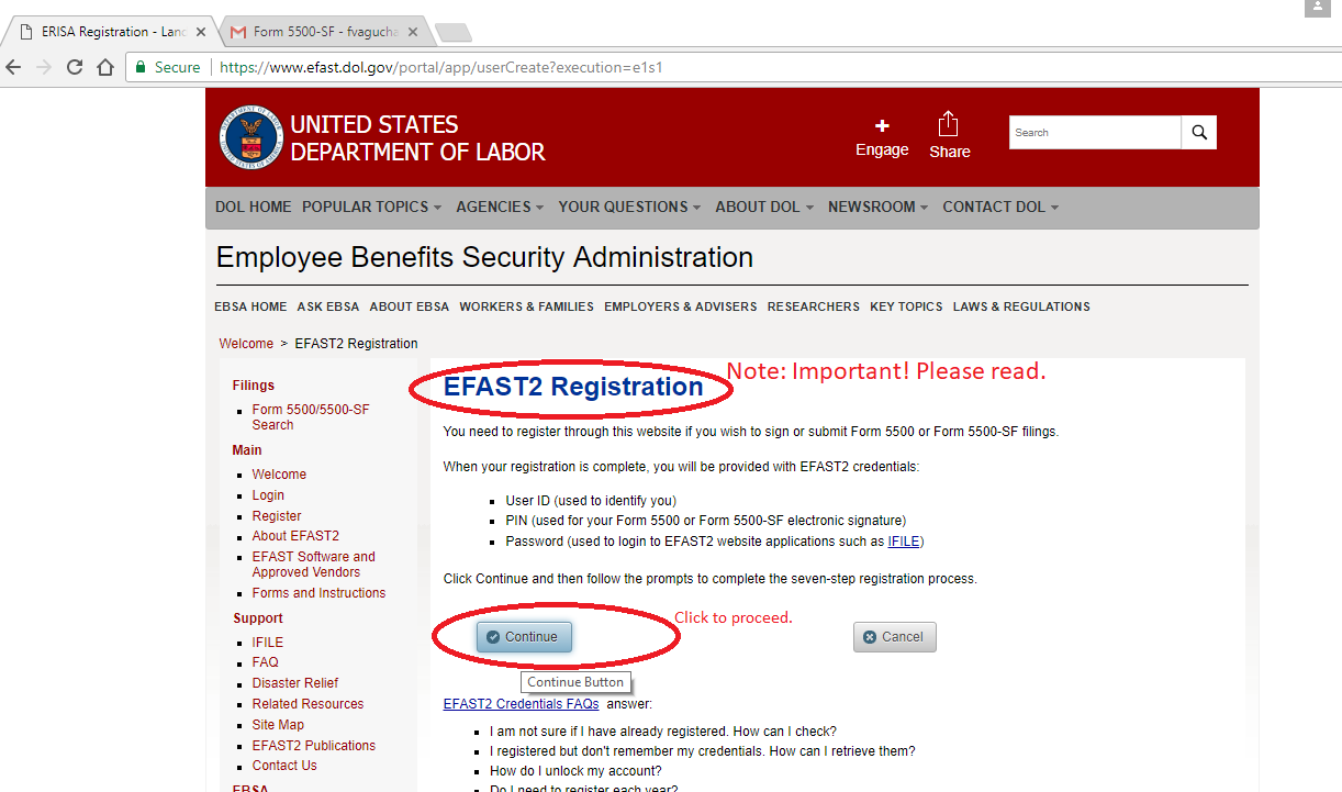 Apply For IRS EFAST2 | 401k FedForms